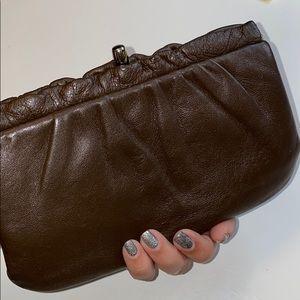 Joseph Magnin Leather Clutch
